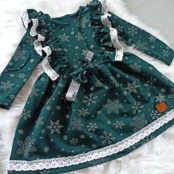 Sukienka z opaską butelkowa zieleń