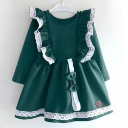 Sukienka z opaską karmelowa