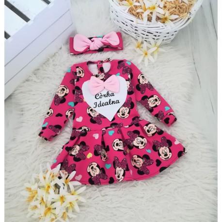 Sukienka Minnie  + Opaska